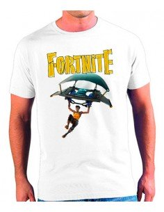 Camiseta Fortnite paracaidas