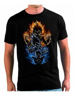 Camiseta Vegeta Evolution Saiyan