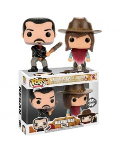 Funko Pop Negan y Carl Grimes Pack 2