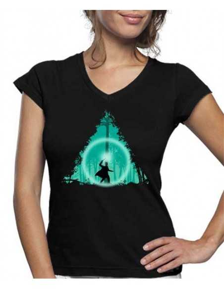 Camiseta de mujer Harry Potter Reliquias Bosque