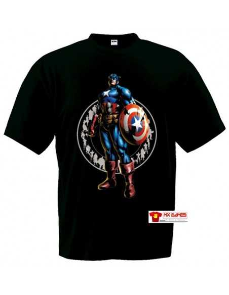 Camiseta Marvel vs Capcom 3 (Capitan America) Manga Corta