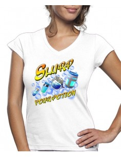 Camiseta de mujer Slurp Your Potion Fortnite