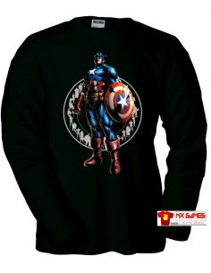 Camiseta Marvel vs Capcom 3 (Capitan America) Manga Larga