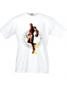 Camiseta de Ironman ,Marvel vs Capcom m.corta blanca