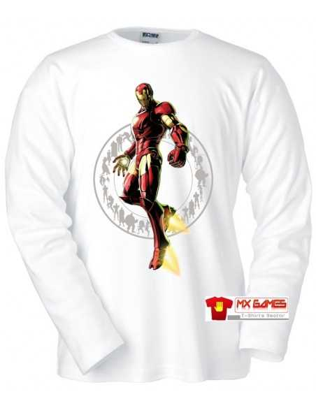 camiseta Marvel vs Capcom 3 ,Ironman M.Larga Blanca