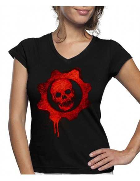 Camiseta de mujer Gears Of War calavera Graffitti
