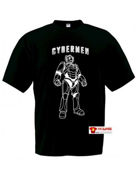 Camiseta Doctor Who Cybermen negra