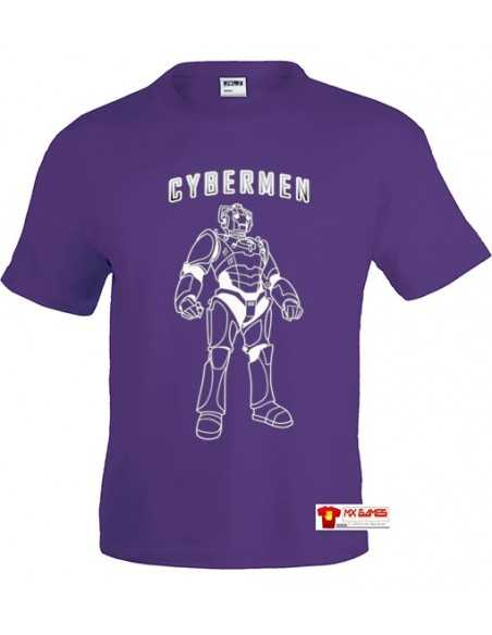 Camiseta Doctor Who Cybermen color Lila | Mx Games