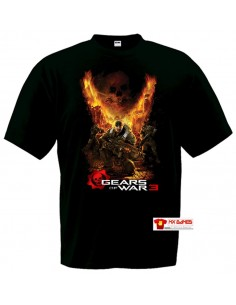 Camiseta Gears of War 3 (Destroyer) manga corta negra