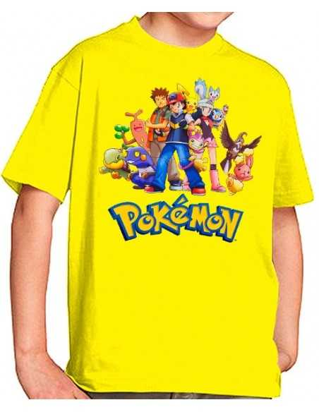 Camiseta Pokemon - personajes pokemon