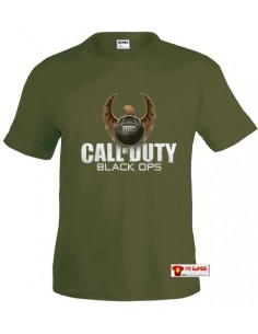 "Camiseta Call of Duty Black Ops ""Ops""verde militar"