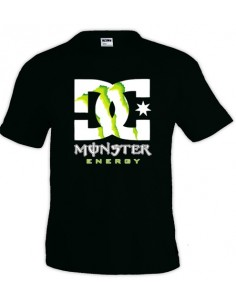 Camiseta Monster Energy-DC Negra