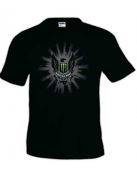 Camiseta Monster energy Army - negra manga corta