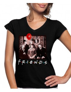 Camiseta mujer Friends It Pennywise terror Halloween