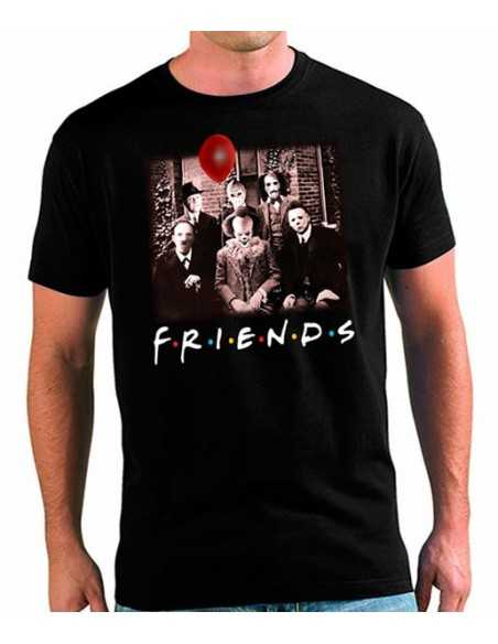 Camiseta Friends It Pennywise terror Halloween