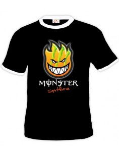 Camiseta Spitfire - Monster Energy Negra