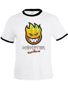 Camiseta Spitfire - Monster Energy Blanca