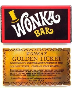Chocolate Willy Wonka Billete Dorado 1071