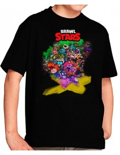 Camiseta Brawl Stars Brawlers colors