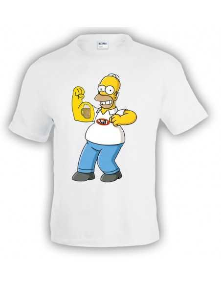 "Camiseta Homer Simpson ""Biceps"" Blanca"