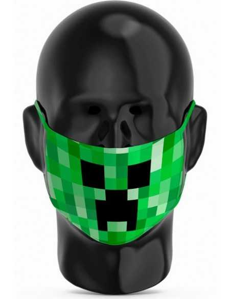 Mascarilla Creeper Minecraft