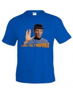 Camiseta Star Trek con Spok ,color azul
