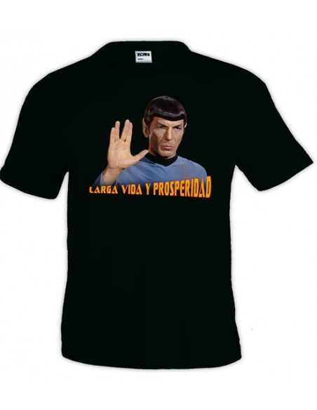 Camiseta Star Trek con Spok ,color negro