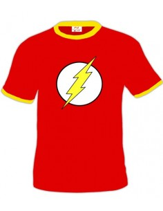 Camiseta con logo de the Flash (Bicolor)