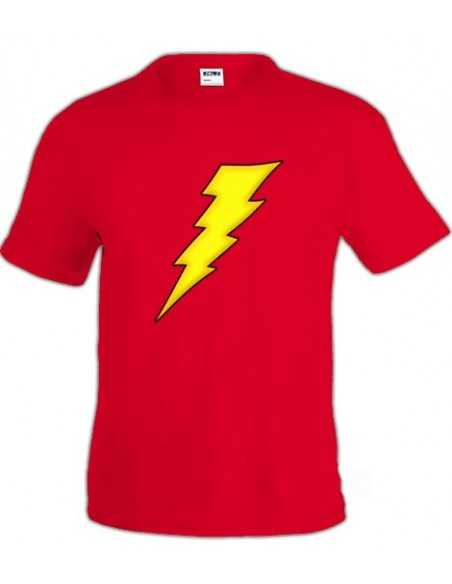 Camiseta con logo de the Flash Rayo
