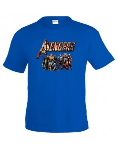 Camiseta de Los vengadores (The avengers) logo custom Azul Royal