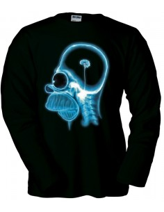 Jersey cerebro Homer Simpson manga larga