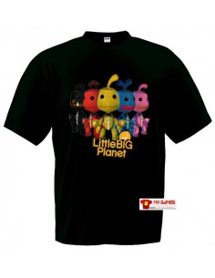 Camiseta Little Big Planet Sackboys Negra