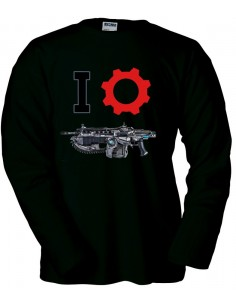 Camiseta Gears of war (I-Lancer) manga larga negra
