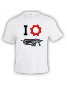 Camiseta Gears of war (I-Lancer) manga corta Blanca