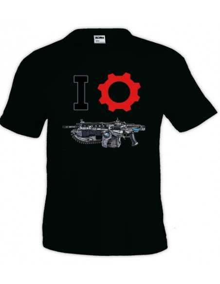 Camiseta Gears of war (I-Lancer) manga corta negra