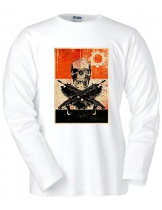 Camiseta Gears of War 3 cartel Locust manga larga blanca