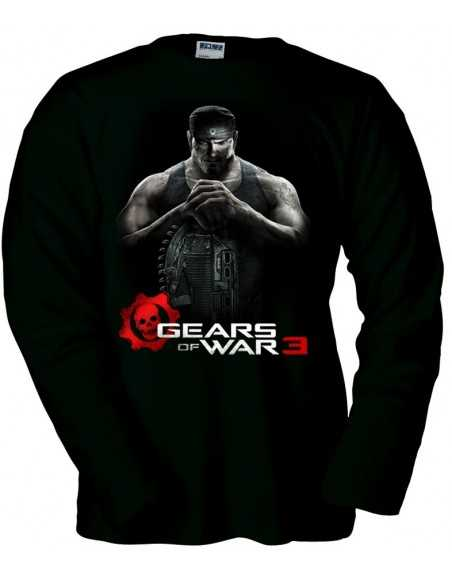 Camiseta Gears of War 3 Markus negra manga larga