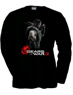 Camiseta Gears of War 3 Dom negra manga larga