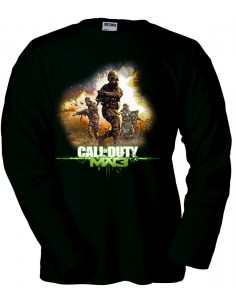 Camiseta modern Warfare 3 Soldiers negra manga larga