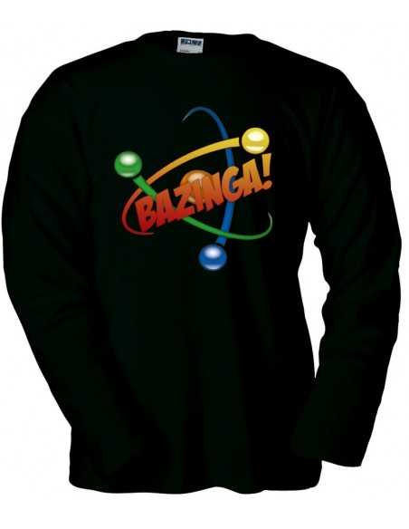 Jersey The Big Bang Theory, Bazinga atom negra manga larga