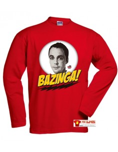 Camiseta Sheldon The Big Bang Theory manga larga