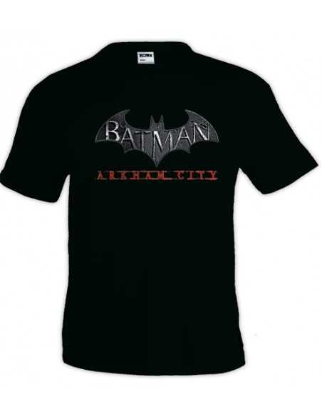 Camiseta Batman Arkham City manga corta