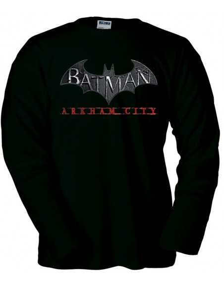 Camiseta Batman Arkham City manga larga