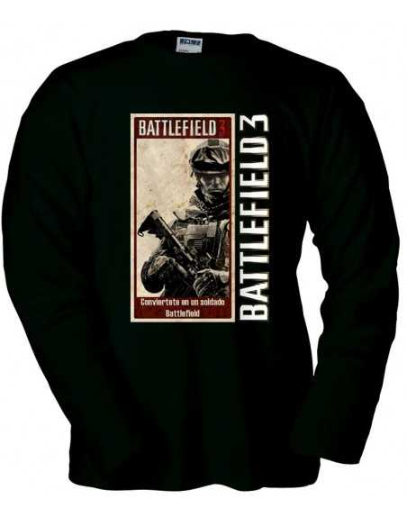 Camiseta Battlefield ¡Alístate!, manga larga
