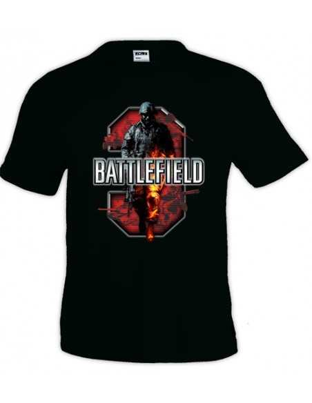 Camiseta Battlefield 3 Red, manga corta