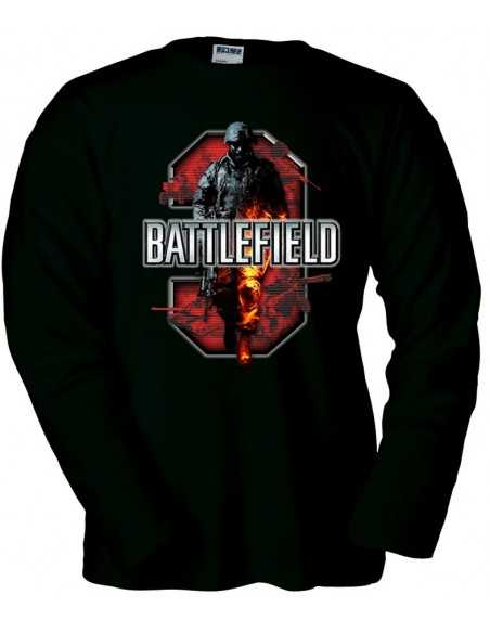 Camiseta Battlefield 3 Red, manga larga
