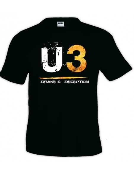 Camiseta Uncharted 3 U3 manga corta