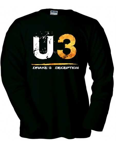 Camiseta Uncharted 3 U3 manga larga