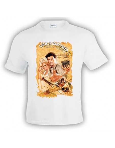 Camiseta Uncharted 3 Map manga corta