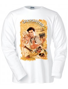 Camiseta Uncharted 3 Map manga larga
